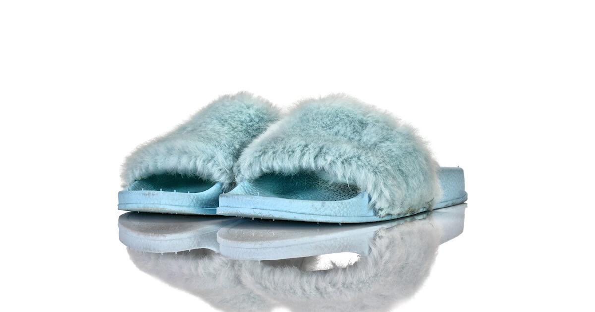 Badeschuhe Blau Fell WiLady