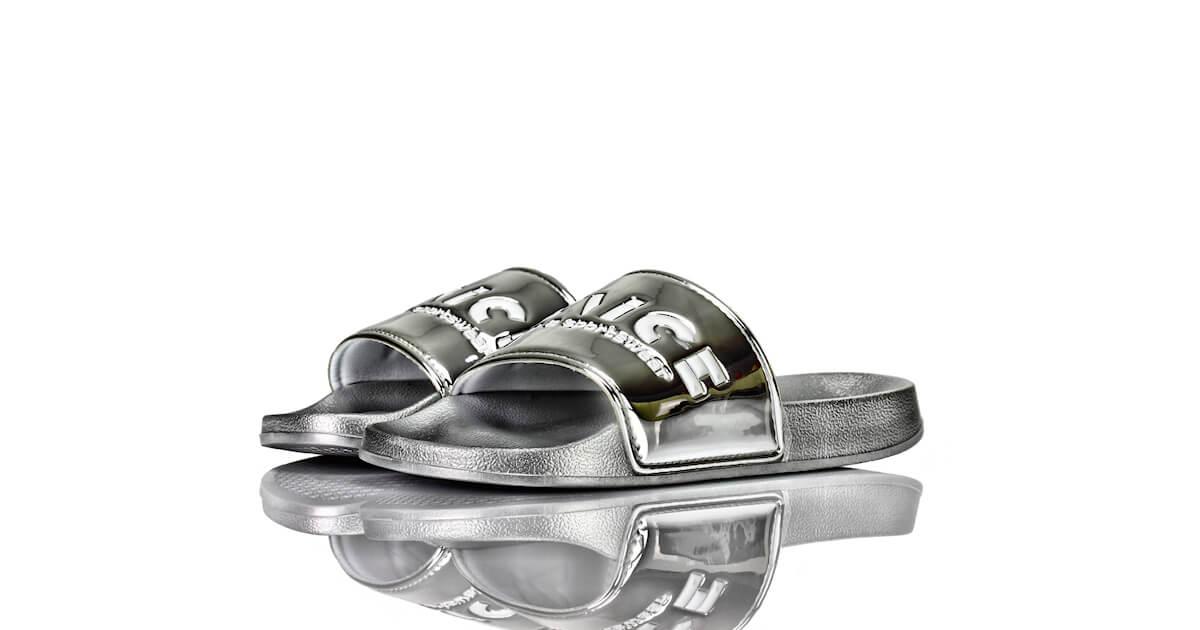 Badeschuhe Venice Lack Silber