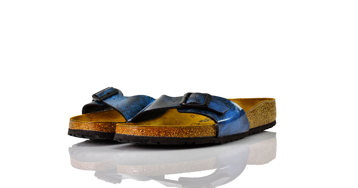 Birkenstock Madrid Iride Strong Blue Lack