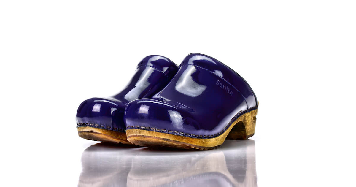 Clogs Sanita Lack Blau