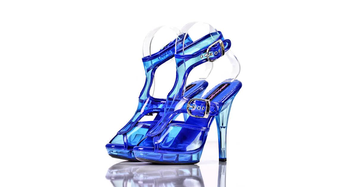 Sandaletten Blau Pvc Acryl