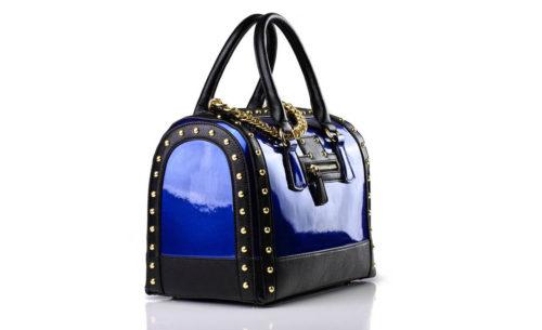 Tasche Blau Lack Designer