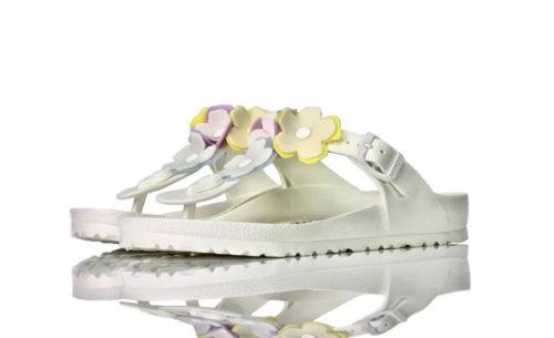Birkenstock Gizeh Weiß Blumen Eva