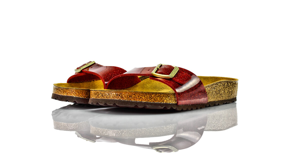 Birkenstock Madrid Magic Snake Bordeaux Lack