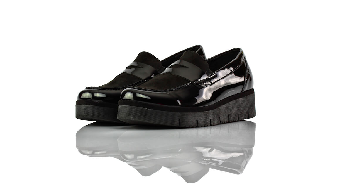 Loafer Schwarz Lack Graceland