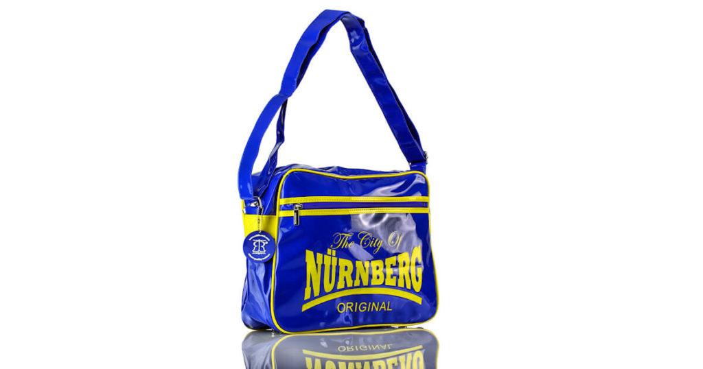 Handtasche Blau Gelb Lack Nürnberg