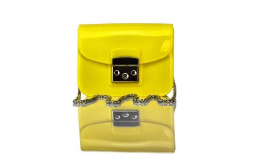Handtasche Mini Gelb Gummi