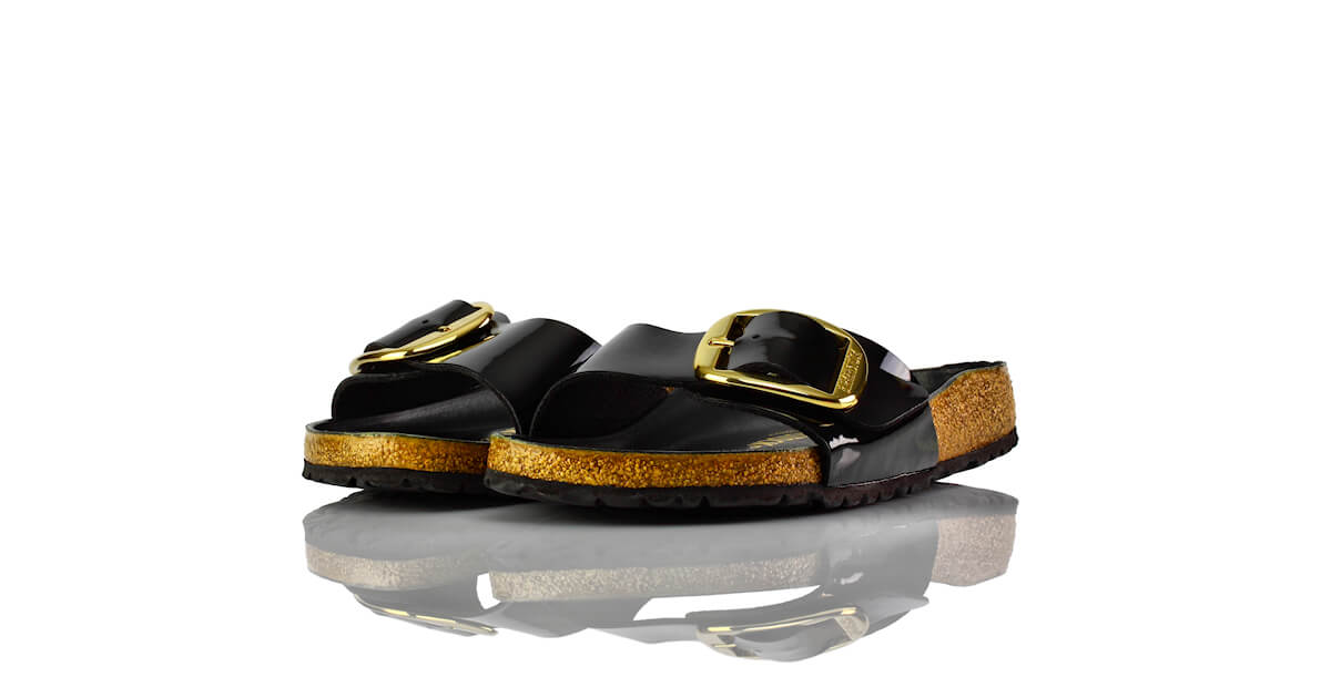 Birkenstock Madrid Big Buckle Schwarz Lack
