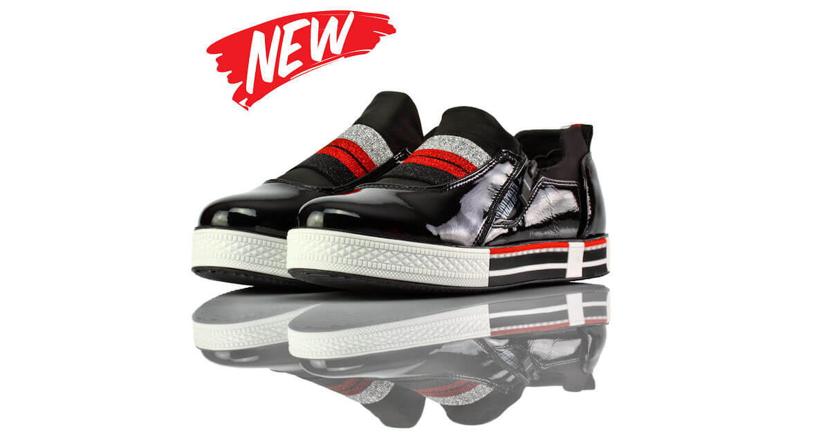 Sneakers Schwarz Lack Evolutions