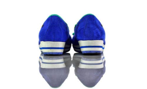 Ballerinas Plateau Keilabsatz Blau Weiß Dockers