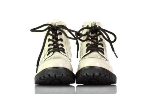 Stiefel Kurz Weiß Lack Bruno Banani