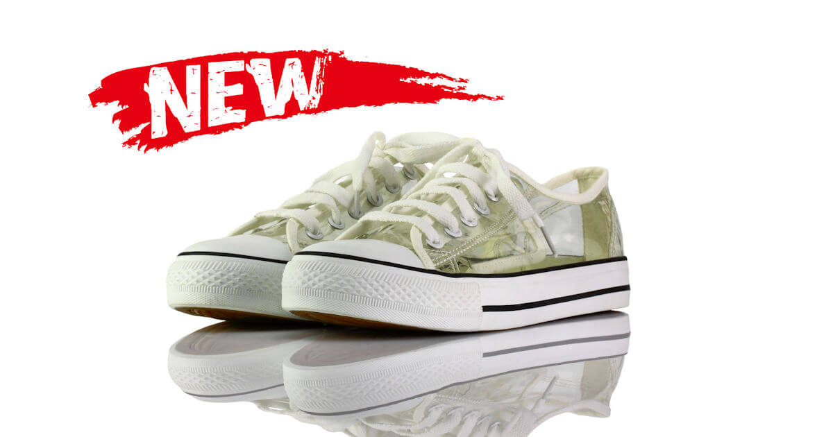 Sneakers Weiß Pvc Transparent