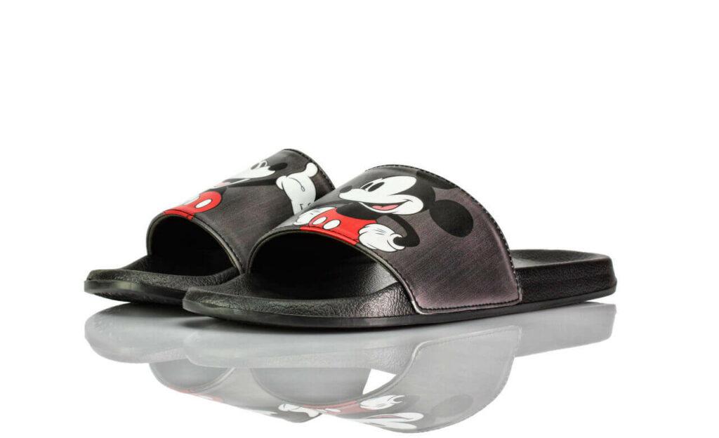Badeschuhe Schwarz Grau Mickey