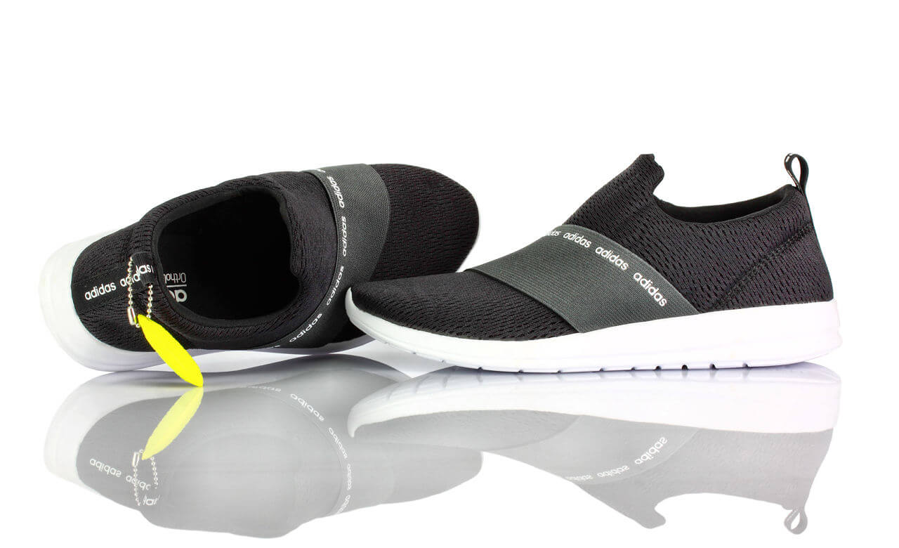 Sneakers Adidas Schwarz Stoff Cloudfoam